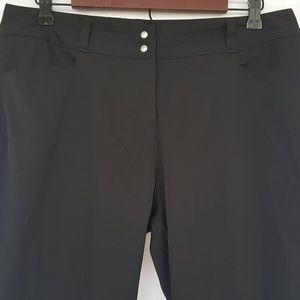 Adidas Womans Black Dress/Golf Pants Size 12